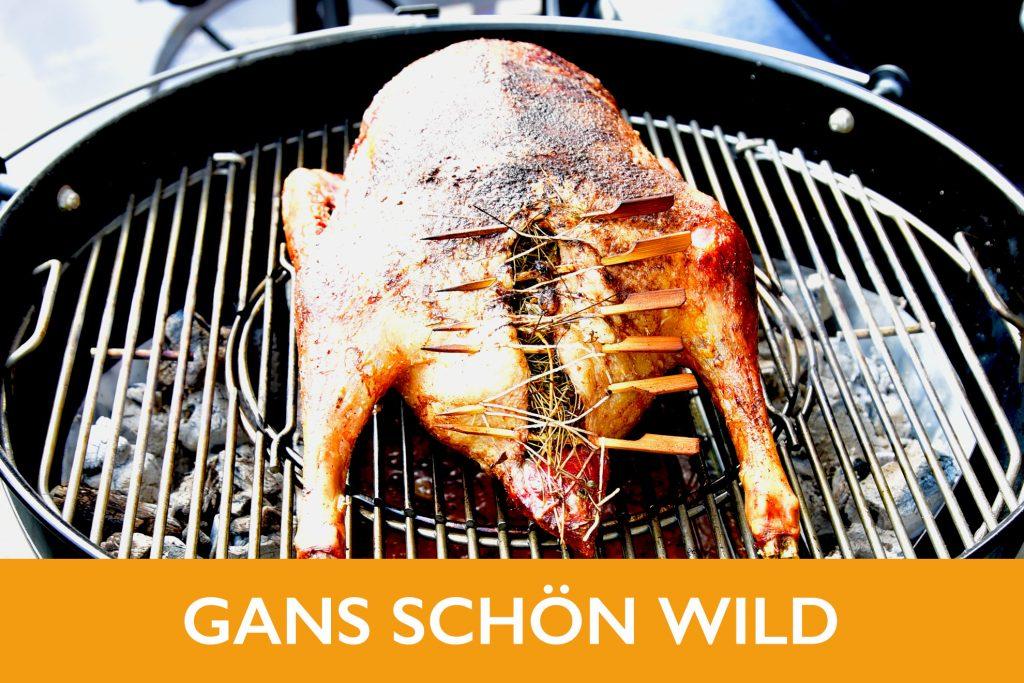 Gans Wild Wildschwein Hirsch grillen BBQ